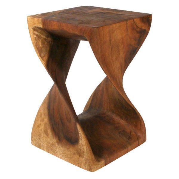 Wooden Twist Table - Tropical - Side Tables And End Tables - by Strata.