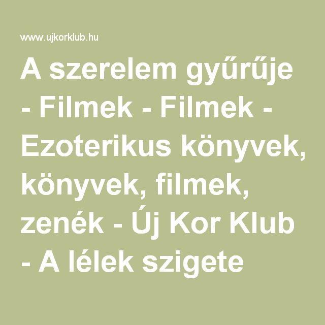 A szerelem gyűrűje - Filmek - Filmek - Ezoterikus könyvek, filmek, zenék - Új Kor Klub - A lélek szigete