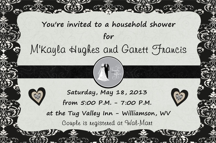 When Do You Order Wedding Invitations: 4x6 Wedding Shower Invitation To Match Black And White
