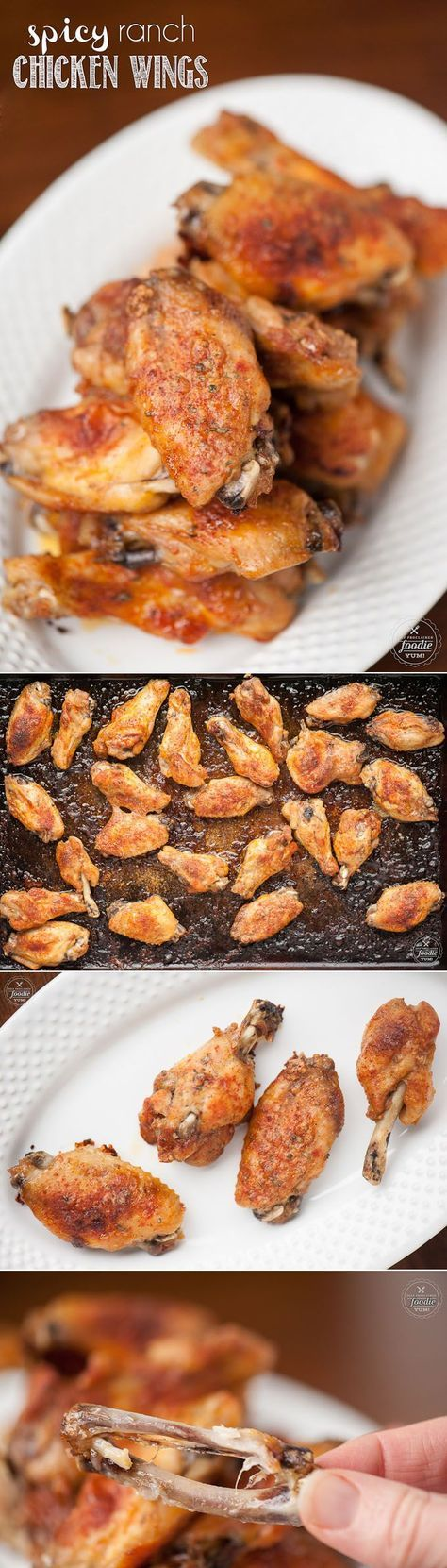 Everyone knows fall off the bone wings are one of the best finger licking game day snacks, and these Spicy Ranch Chicken Wings are fantastic.