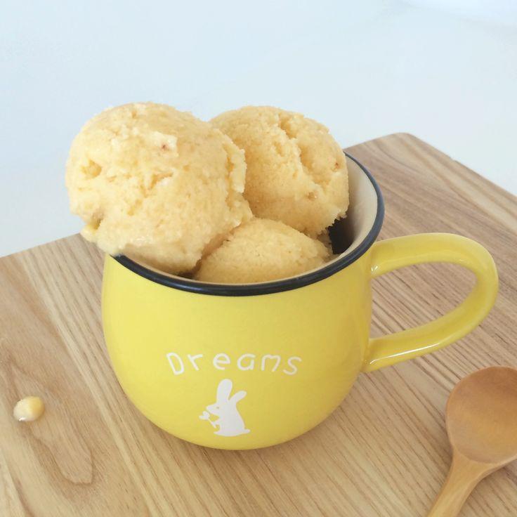 Şeftalili Donmuş Yoğurt (Dondurma) | Pamuktan Bulut  http://pamuktanbulut.com