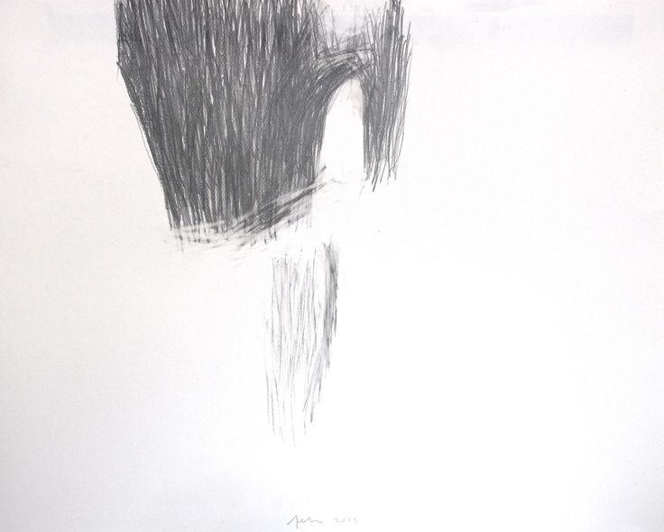 """""""sementes: o grande espaço exterior das coisas 1"""" (seeds: the great exterior space of things). Drawing: pencil on paper (65X 50) cm."""
