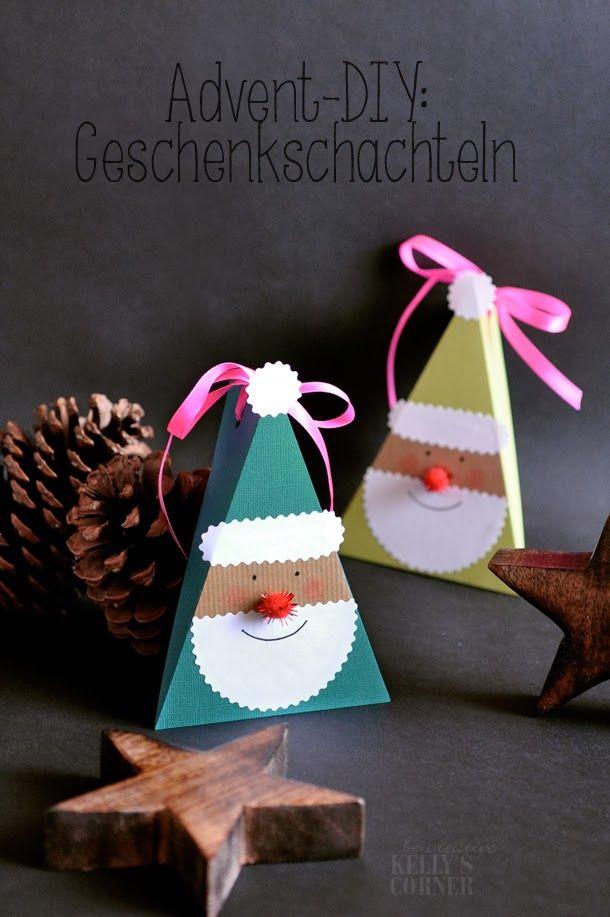 Petites boîtes en forme de Père Noël pour offrir des chocolats...
