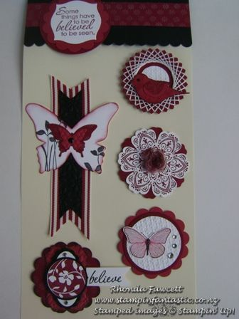 Butterlies, bird and flower embellishments for card making and scrapbooking