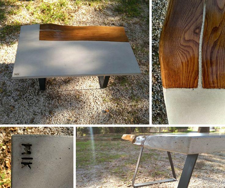 #concrete #handmade #greece #lilia #table #concretefurniture #design #causegreymatters #wood #with #cement #beton #grey