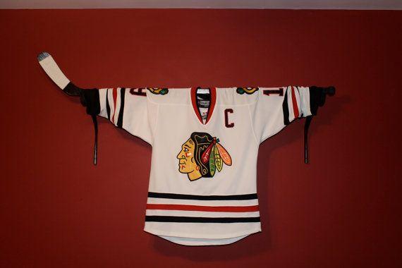 Hockey Valance Holder Jersey Display or Stick by HockeyStickStuff, $25.00
