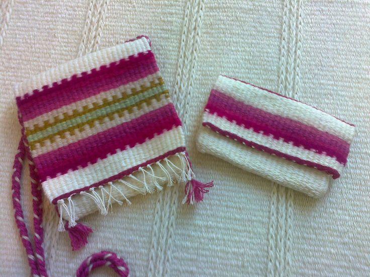 Kézi szövésű kistarisznya és pénztárca garnitúra - Handwoven bag and wallet by Anna Zentai - www.zentaianna.hu