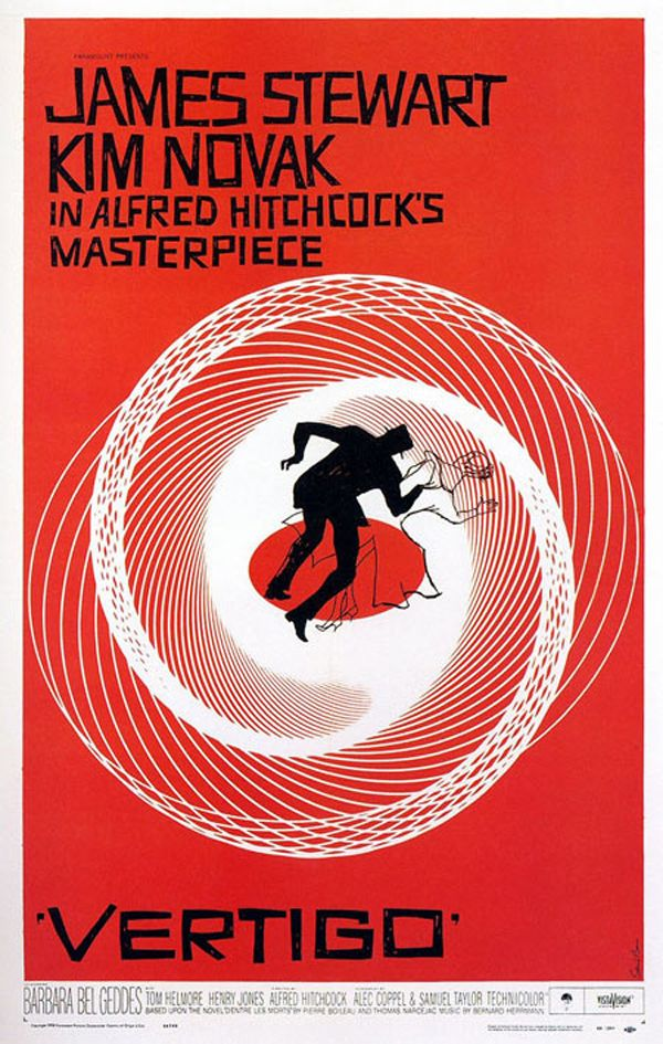 Vertigo movie poster....Not a book but have to give it a note...Filmed in my neighborhood when I was a child (San Francisco and Sausalito late 50's) Wonderful movie...