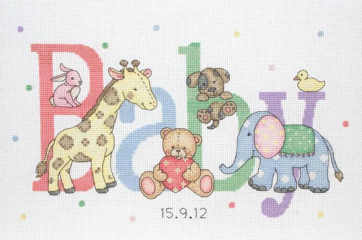 Baby Animals - Anchor baby birth sampler