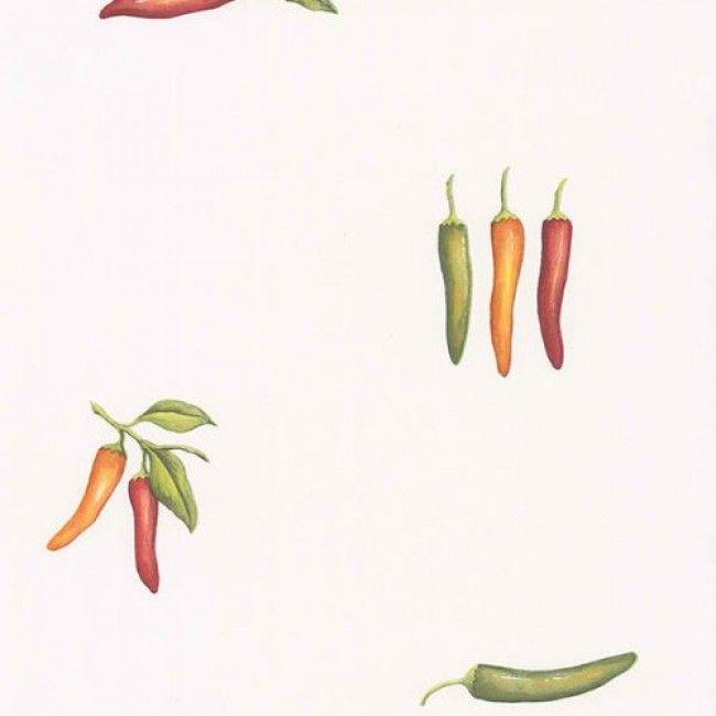 Southwestern Chili Pepper on White Background Wallpaper