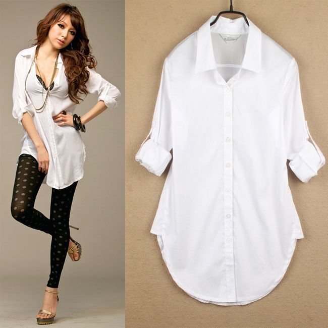 Womens Long White Blouse | Fashion Ql