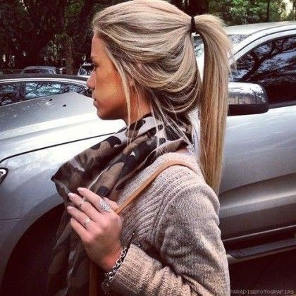 Lovely Ponytail for Blondes / #hairstyles