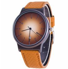 Top Brand New Vintage Style Fashion Watch Women Men Color Leather Strap Simple Elegant Casual Quartz Wristwatch Ladies Clock