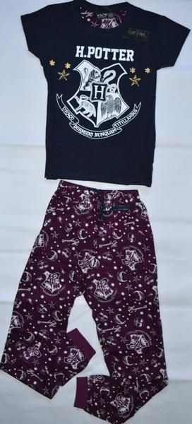PRIMARK HOGWARTS PJ HARRY POTTER Pyjamas UK sizes 6 - 20 Long bottoms & T shirt. H Potter. UK sizes
