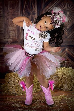 Cowgirl tutu setpink and brown tutu setpink by GlitterMeBaby, $50.00