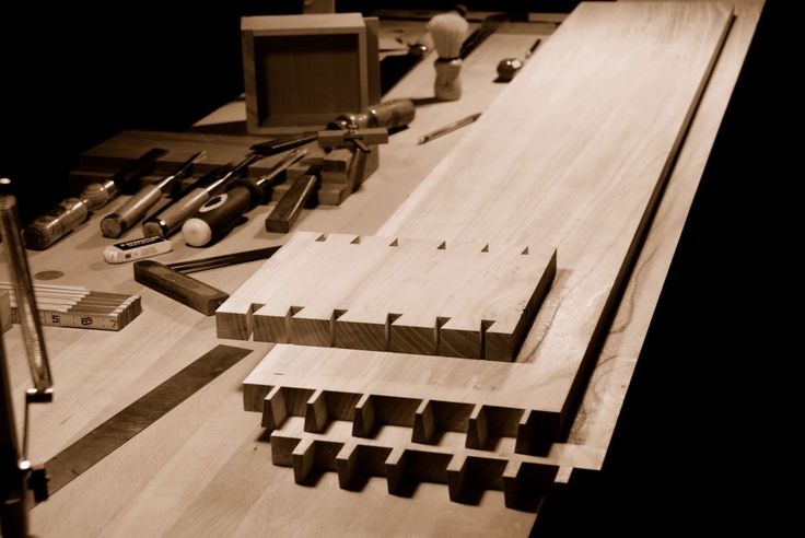 Hand cut dovetails.