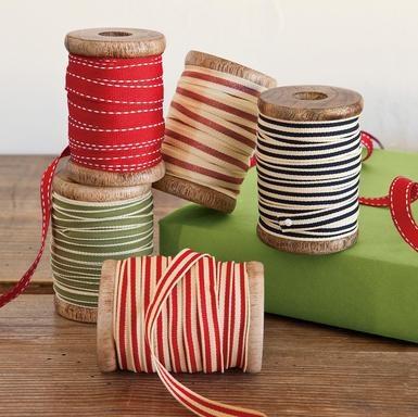 Cute set of 5 ribbon spools