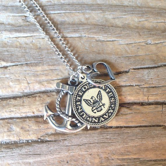 U.S. Navy Necklace / Navy Wife / Navy Girlfriend / by CADETcouture