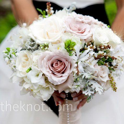 Real Weddings - Modern Vintage - Romantic Wedding Bouquet