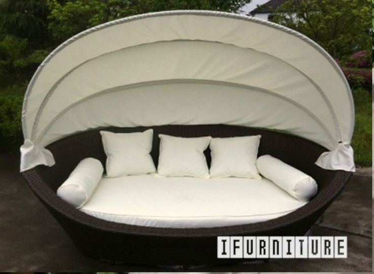 HAWAII Rattan Day Bed with Canopy , Outdoor, NZ's Largest Furniture Range with Guaranteed Lowest Prices: Bedroom Furniture, Sofa, Couch, Lounge suite, Dining Table and Chairs, Office, Commercial & Hospitality Furniturte