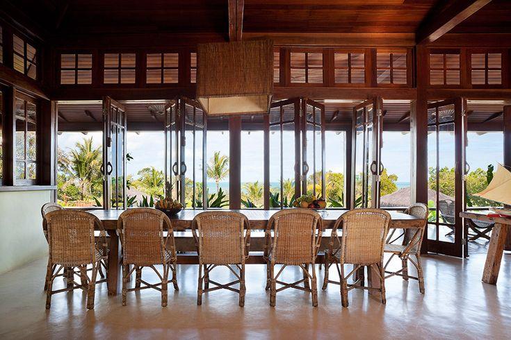 Tour the Novogratz Design Duo's Breezy Brazilian Beach House - The Dining Room from InStyle.com
