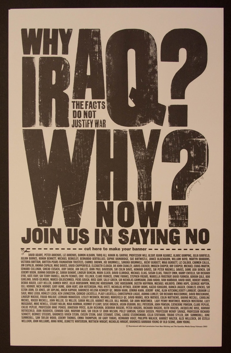 Alan Kitching - Why Iraq? Why Now? - Letterpress