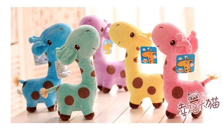 Плюшевые куклы 2 шт. 18 см мало мультфильм жираф олень плюшевые кулон украшение дома дети мягкая игрушка творческий подарок для ребенка