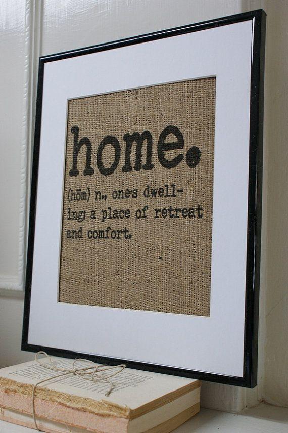 Great housewarming gift. La Poste Burlap by myadobecottage