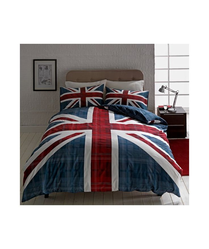 Buy Check Union Jack Multicoloured Bedding Set - Double at Argos.co.uk - Your Online Shop for Duvet cover sets.