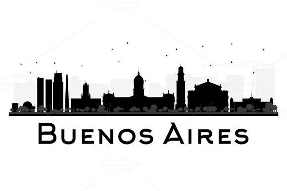 Buenos Aires Skyline Silhouette