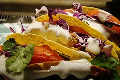 Easy Spaghetti Tacos Spaghetti tacos are the best Mexican food for anyone who wants something really filling and affordable. Pasta and Tortilla mix for a combination so flavorful you'd have to move Italy next door to Mexico to get this anywhere el