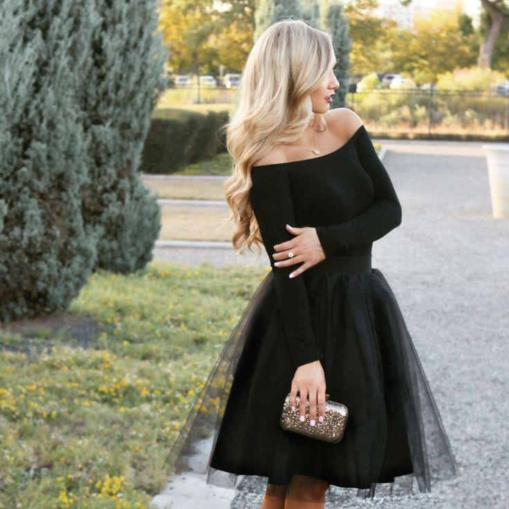 Date night tulle skirt inspo.. Black tulle skirt by Bliss Tulle