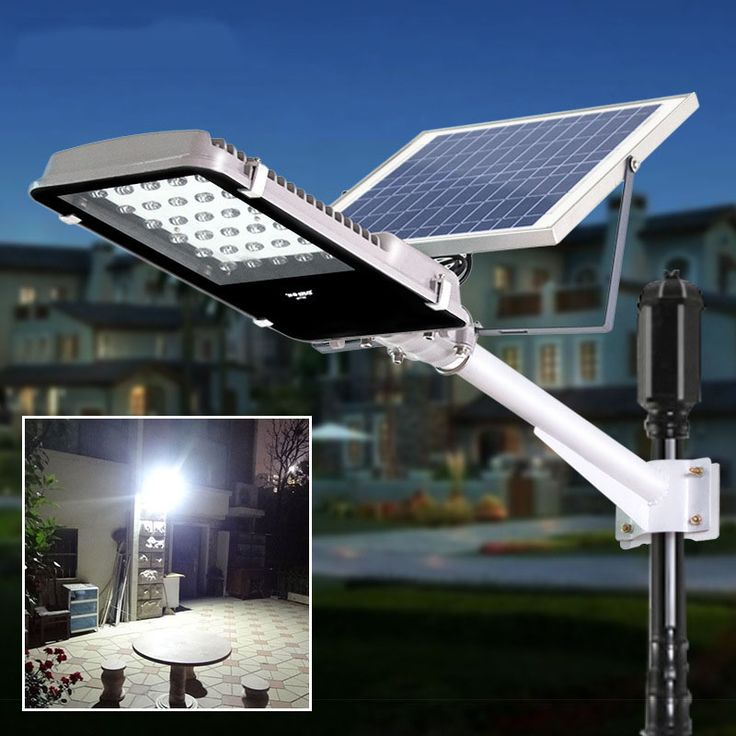 Lights Solar Powered Part - 28: Light Controlled 30 LEDs 15W Solar Street Lights Outdoor Garden Path Night Lamps  Solar Powered Panel