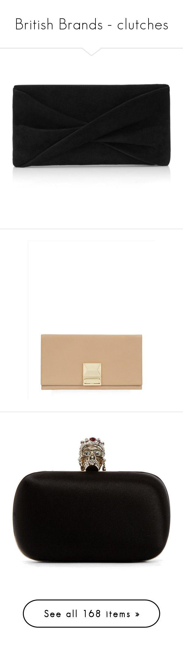 """British Brands - clutches"" by royalsfollower ❤ liked on Polyvore featuring bags, handbags, clutches, bolsas, handbag's, black, crossbody hand bags, handbags crossbody, chain strap crossbody purse and reiss handbags"