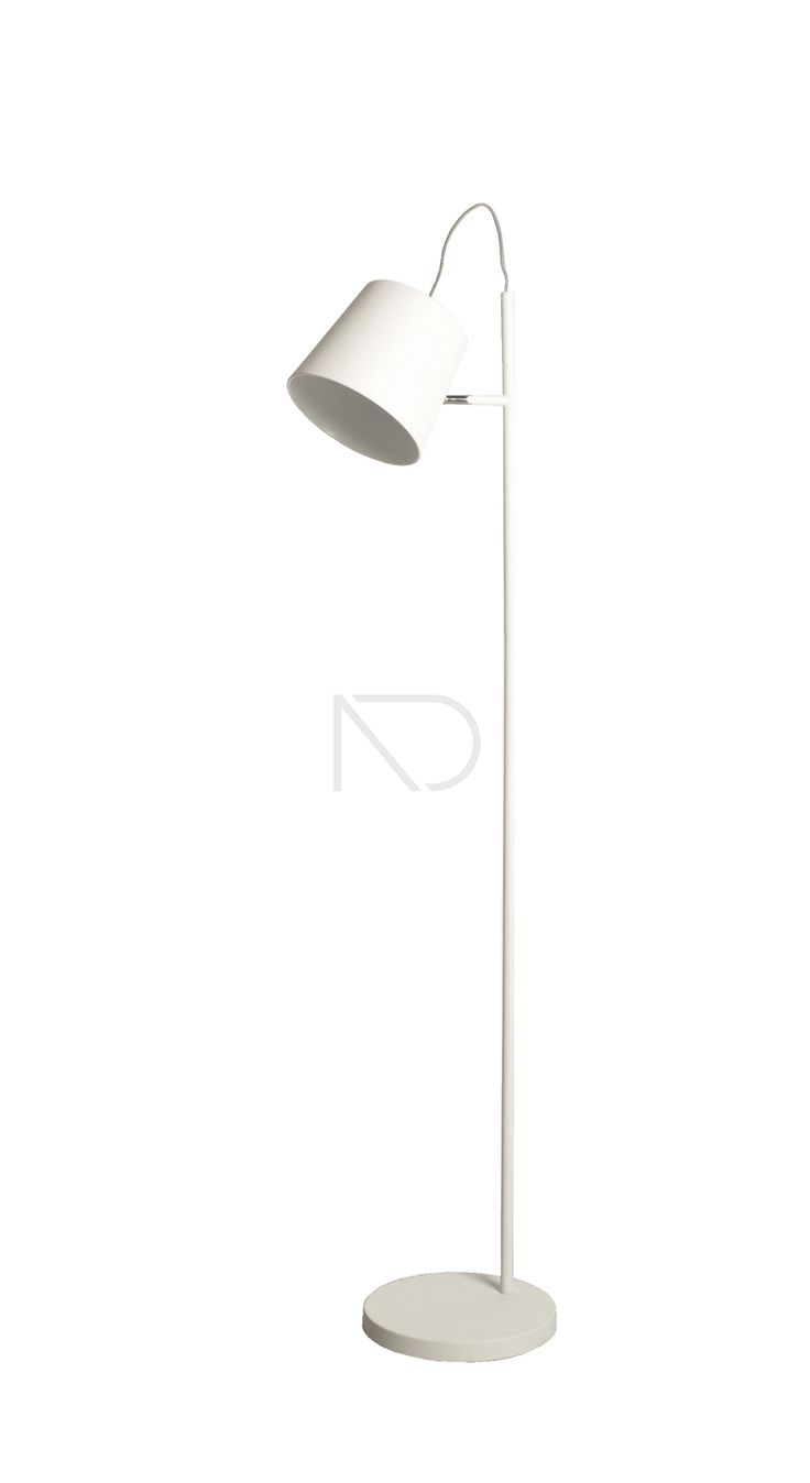 Lampa podłogowa BUCKLE HEAD biała - Zuiver - Nordic Decoration Home