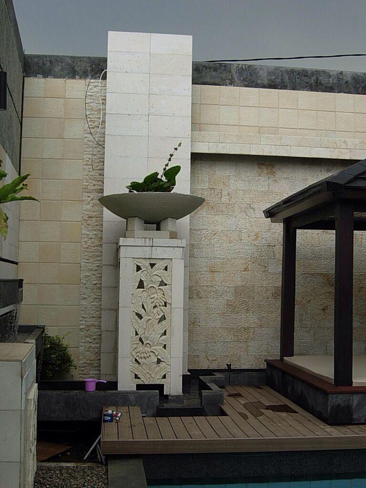 Paras Jogja Stone (detail at the pool)