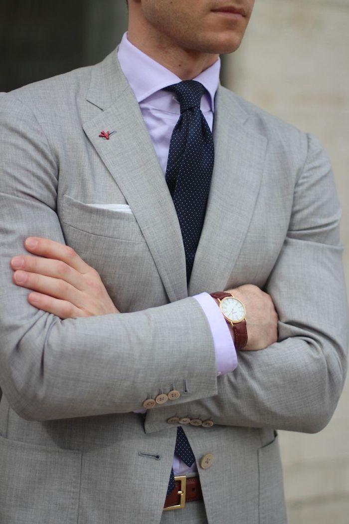 best website 56e7b 7a8f3 ▷ 1001 + Ideen Thema: grauer Anzug welches Hemd passt dazu ...