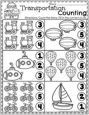 transportation worksheets - planning playtime | vorschularbeitsblätter, projekte im kindergarten