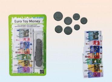 Spielgeld Euro Münzen und Scheine 30-Teiliges sortiertes Set
