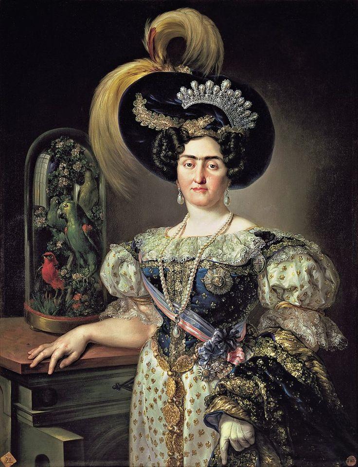 María Francisca de Braganza, infanta de España y Portugal, h. 1823 | Vicente López Portaña |  Museo de la Real Academia de Bellas Artes de San Fernando