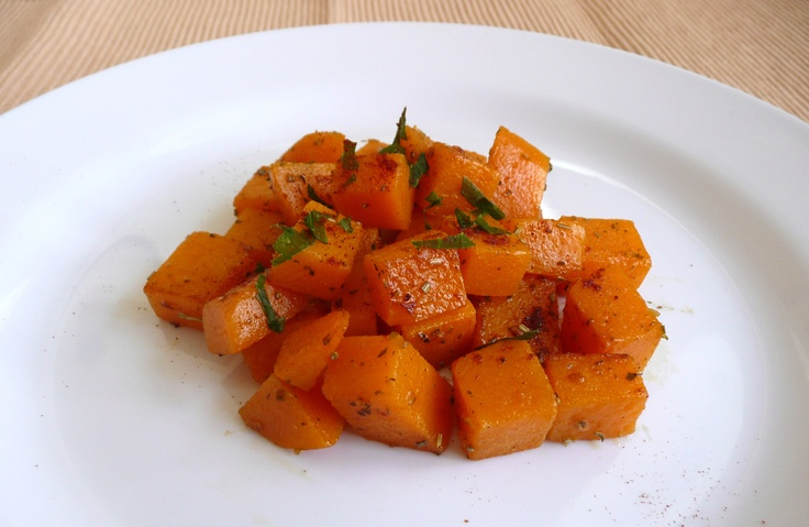Dýně s rozmarýnem / butternut squash with rosemary, quick side dish
