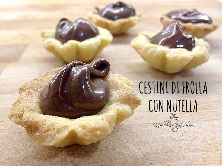 Cestini+di+frolla+con+Nutella
