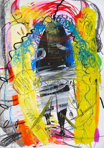 Zulu, 2013 Mixed Media on Paper 30 x 42  Still one of my favorite pieces!