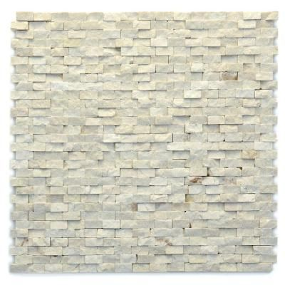 Solistone Modern Fauve 12 in. x 12 in. x mm Marble Natural Stone  Mesh-Mounted Mosaic Wall Tile sq. / case) - 4024 - The Home Depot