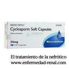 La ciclosporina es un inmunosupresor que se utiliza principalmente para suprimir el sistema inmunológico y prevenir el rechazo de trasplante de órganos como el trasplante de riñón