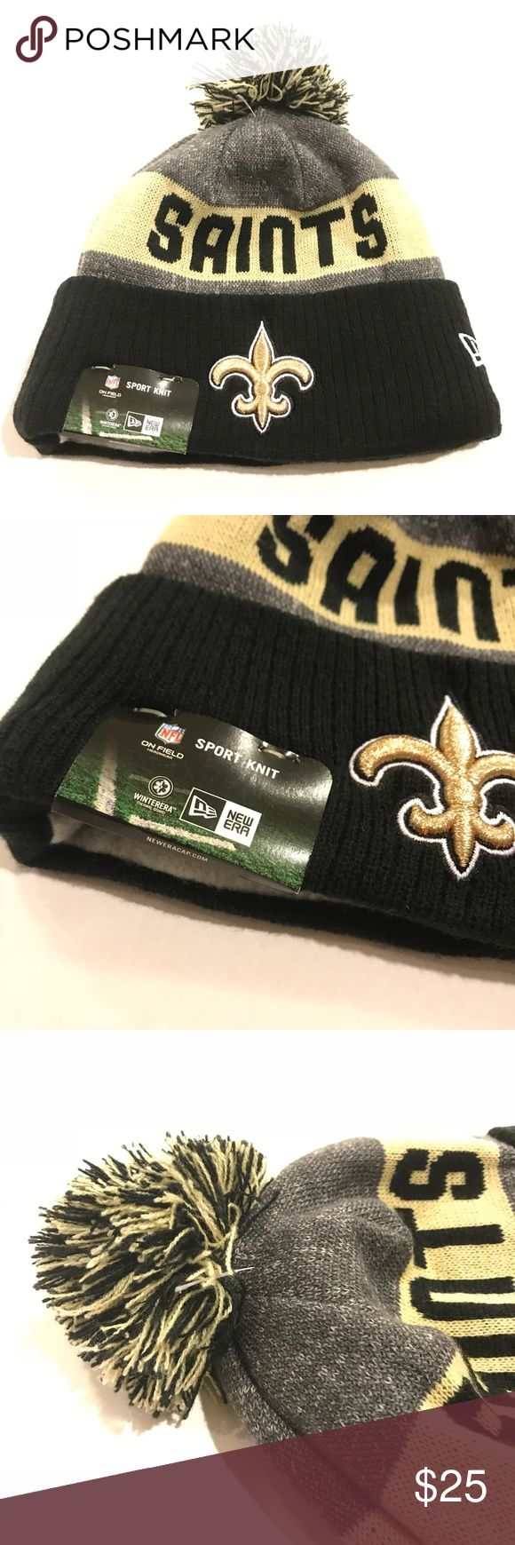 New Orleans Saints knit Beanie one size fits most NWT Never worn  One size fits most New Era Accessories Hats