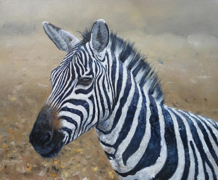Oils instructional video lesson: Zebra by Pip McGarry at ArtTutor.com
