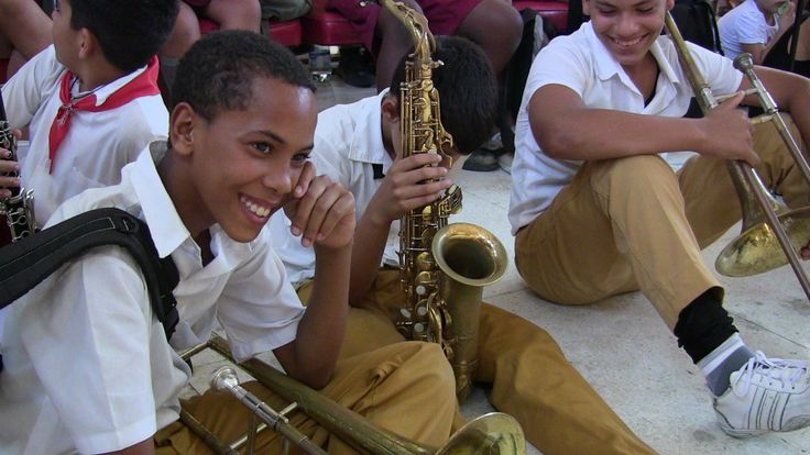 Students from one of the many music schools situated in Havana