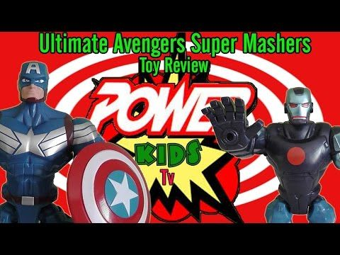 Avengers Ultimate Super Mashers Toy Review by Power Kids Tv - YouTube