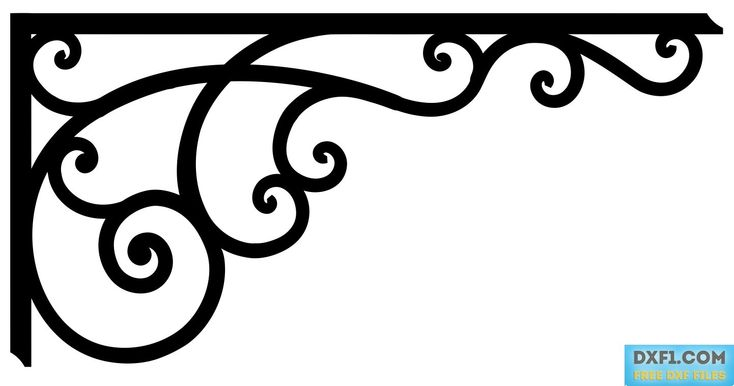 Corner Vector DXF CNC File-CC - FREE DXF FILES. FREE CAD SOFTWARE - DXF1.com